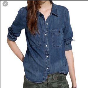 Madewell Denim Button-Down Shirt Size XS